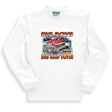 Automotive Sweatshirt Big Boys Drive Big Bad Toys Antique Car