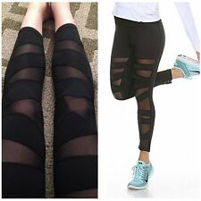 Womens YOGA Gym Sports Leggings Running Fitness Pants Stretch Workout Trouser