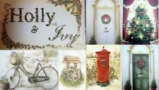 Flower Soft Card Toppers Christmas Wishing Well Bicycle Doors & Wreaths Holly
