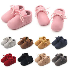 WELL Cute Newborn Boys Tassel Shoes Girls Baby Soft Infant Sole Toddle Sneaker