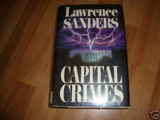 Capital Crimes by Lawrence Sanders (1989, Hardcover)