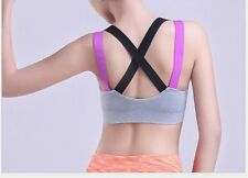 Women Sports Running Gym Yoga Gather Bra Quick Drying Vest Breathable Seamless