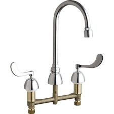 Chicago Faucets 786-E29VPABCP Gooseneck Widespread Faucet with Lever Handles