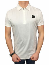 Mens Antony Morato Logo Fitted Polo Shirt in White Size XXL