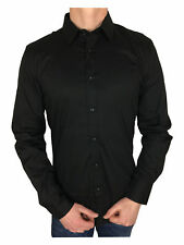 Antony Morato Gold Super Slim Shirt in Black Mens Large