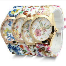 Watch New Quartz Watch Floral  1Pcs Silicone Women Sports Jelly Fashion Watches