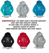 NEW AEROPOSTALE PS KIDS GIRLS HOODIE ORIGINAL BRAND NY PS NEW YORK SPARKLE AERO