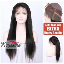 """10-18"""" Silky Straight 360 Human Hair Full Lace Wigs Indian Remy Hair Wig 150%"""