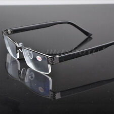 Unisex Reading Glasses Coating Metal Half-frame Reading Glasses +1.0 to +4.0 UK