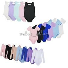 Girls Kids Gymnastics Dance Leotard Children Ballet Uniform Dancewear Costume