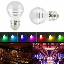 E27E14 GU10 3W RGB LED Light Bulb Color Changing with Remote Control Lamp Bulb