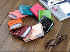 Genuine Patent Leather Woman Lady ID Credit Card Case Holder Pocket Bag Wallet