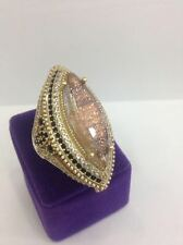 STERLING 925 SILVER HANDMADE JEWELRY RUTILATED QUARTZ COCKTAIL RING