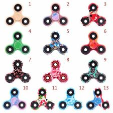 Mini Camouflage Hand Spinner Toy Tri Fidget Ball Desk Toy EDC Stocking Stuffer