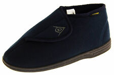 Mens DUNLOP Navy Blue Orthopaedic Velcro Adjustable Boot Slippers Size 7 8 9 10