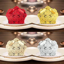 100 Luxury Wedding Favour Favor Sweet Cake Gift Candy Boxes Table Decoration UK