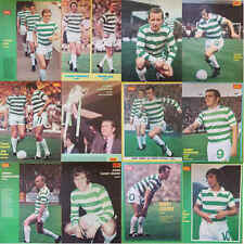GOAL football magazine retro A4 player picture poster Celtic - VARIOUS