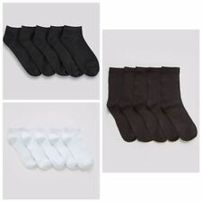 Ladies Girls 5 Pack Soft Touch Trainer/Ankle Bamboo Socks