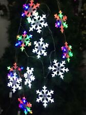 20Pcs Solar Fairy Snowflake LED Lights String Garden Outdoor Party Wedding Décor