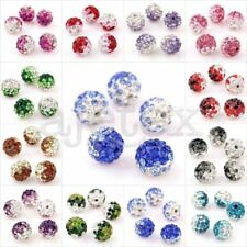 Crystal Clay Pave Rhinestone Disco Ball Beads 10mm for Jewelry AB White 5pcs