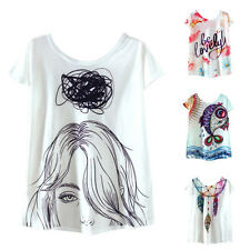 Plus Size Women Short Sleeve T Shirt High Low Style Casual Tops Summer Basic Tee
