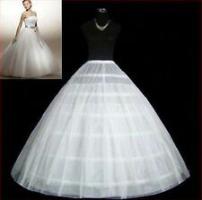 6-HOOP1layer White Petticoat Wedding Gown Crinoline Petticoat Skirt Slip/3-hoop