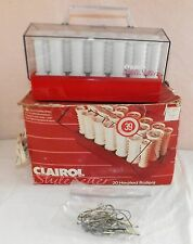 CLAIROL STYLESETTER STYLE SETTER C-20R 1985 20 HOT HEATED HAIR ROLLERS CURLERS