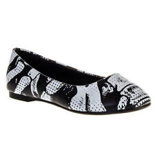 Banned Ribcage Skeleton Black Ballerina Shoe ALL SIZES - Womens Pumps & Flats