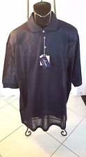 New Mens Ancona Black Golf Shirt Made In Italy Double Mercerized Egyptian Cotton