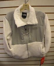 THE NORTH FACE WOMENS DENALI THERMAL FLEECE JACKET-#A6EJ- L - WHITE/ GREY