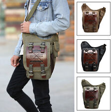 Mens Casual Messenger Travel Bag Crossbody Shoulder Bag Patchwork