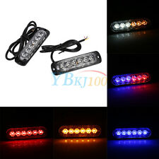 2x Car Truck 6 LED Strobe Light Flash Emergency Hazard Warning Lamp DC12V/24V BT