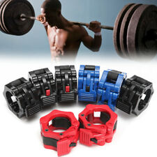 "Standard 2"" Hole 5cm Dumbbell Barbell Clips Clamps Spinlock Collars Nylon + TPR"