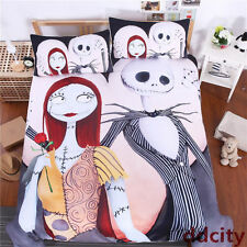 The Nightmare Before Christmas Jack Love Sally Bedding Duvet Cover Pillowcase