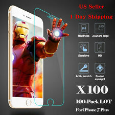 D&Z 100x Wholesale Tempered Glass HD Screen Protector Film for iPhone 7 Plus