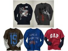 euc GAP KIDS Long Sleeve LOGO Layer 2in1 basketball baseball GRAPHIC T m 8 L 10