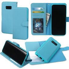 Samsung S8 Plus Cell Phone Wallet Flipped Detachable Cross Pattern Leather Case