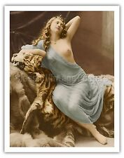 Classic Vintage French Nude Vintage Art Poster Print Giclée