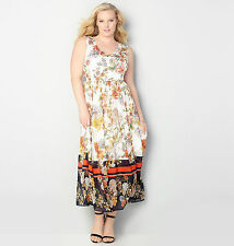 AVENUE Floral Chiffon Maxi Dress