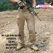 Men Tactical Military Pants, Multi-pockets Sports Army Force Training Hunting