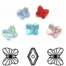 8mm 10mm Genuine Swarovski Crystal 5754 Butterfly Beads Choose Your Size Color