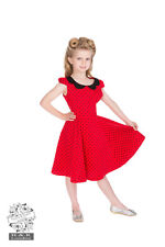 Hearts & Roses London kids Red polka dot rockabilly swing dress girls occasion