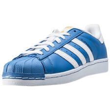 adidas Superstar Mens Trainers Blue White New Shoes