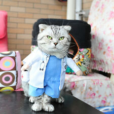 Pet Halloween Doctor Costume Dog Jeans Clothes Cat Funny Apparel