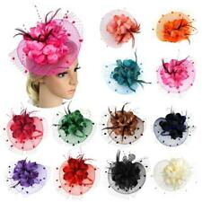 Lady Women Flower Fascinator Hat Hair Band Cocktail Wedding Party Headpiece