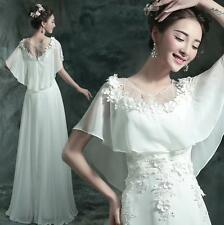Formal Womens Chiffon Bridal Wedding Dress Cocktail Prom Party Ball Gown Size XL