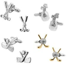 Golfing Clubs Club Bag Golf Cufflinks