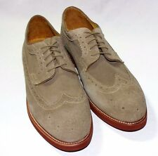 Mercanti Fiorentini Long Wingtip Buck Oxford,Suede Upper,Taupe or Chocolate, New
