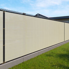 Customize 6'FT Privacy Screen Fence Beige Commercial Windscreen Shade Cover1-160