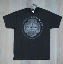 HEW with TAGS Black GUINNESS EXTRA STOUT T shirt Official Guinness Merchandize